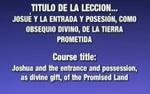 Lección 05 - Josué ya la entrada y po by Rubén Domínguez and Héctor Canjura