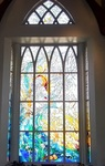 Chapel stained glass windows altar , north and south transcept. by Dale Ward
