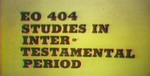 Intertestamental Period 25