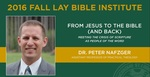 From Jesus to the Bible and Back Part 3 by Peter Nafzger