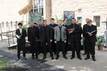 Concordia Seminary choir Laudamus performing during the groundbreaking for the library renovation.