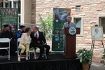 Glenn Hasse speaking  during the groundbreaking for the library renovation.