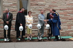 Dr. Kent Burreson conducts the Blessing and Benediction during the groundbreaking for the library renovation.