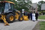 The recessional after the groundbreaking for the Kristine Kay Hasse Memorial Library.